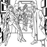 Tron, Tron Legacy Trapped In Elevator Coloring Pages: Tron Legacy Trapped in Elevator Coloring Pages