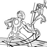 Tron, Tron Legacy The Games Coloring Pages: Tron Legacy the Games Coloring Pages