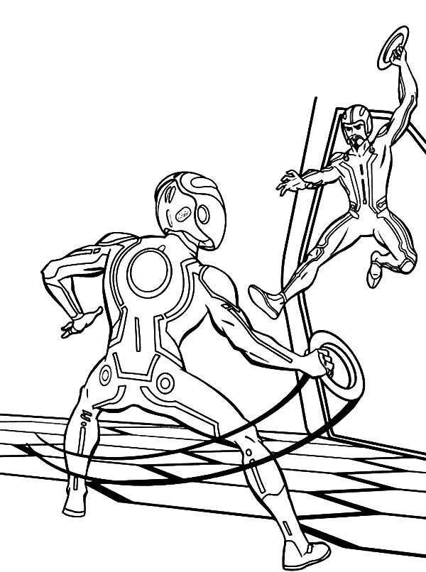 Tron, : Tron Legacy the Games Coloring Pages