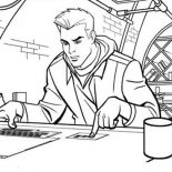 Tron, Tron Sam Flynn Operate Computer Coloring Pages: Tron Sam Flynn Operate Computer Coloring Pages