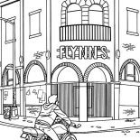 Tron, Tron Sam Flynn Visiting His Father Old Office Coloring Pages: Tron Sam Flynn Visiting His Father Old Office Coloring Pages