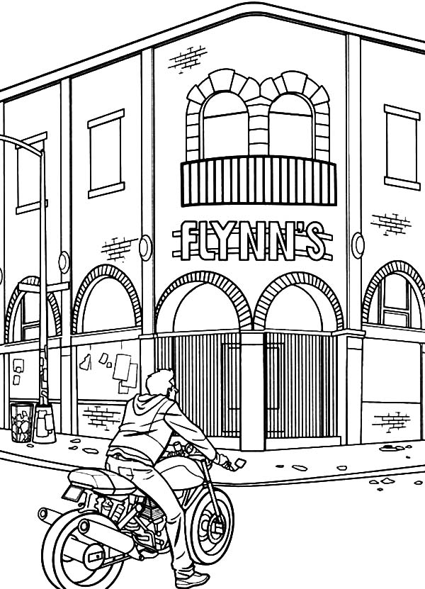 Tron, : Tron Sam Flynn Visiting His Father Old Office Coloring Pages