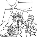 Tron, Tron Sam Try To Save His Father Coloring Pages: Tron Sam Try to Save His Father Coloring Pages