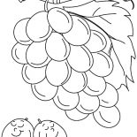 Grapes, Two Grapes Sleeping Coloring Pages: Two Grapes Sleeping Coloring Pages
