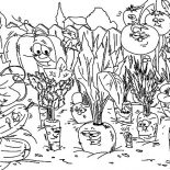 Garden, Vegetables Garden Coloring Pages: Vegetables Garden Coloring Pages