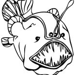 Monster Fish, Soccer Coloring Page: soccer