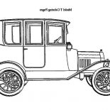 Model t Car, Vintage Model T Car Coloring Pages: Vintage Model T Car Coloring Pages