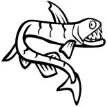 Monster Fish, Viperfish Is One Of Monster Fish Coloring Pages: Viperfish is One of Monster Fish Coloring Pages