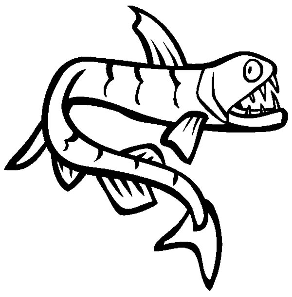 Monster Fish, : Viperfish is One of Monster Fish Coloring Pages
