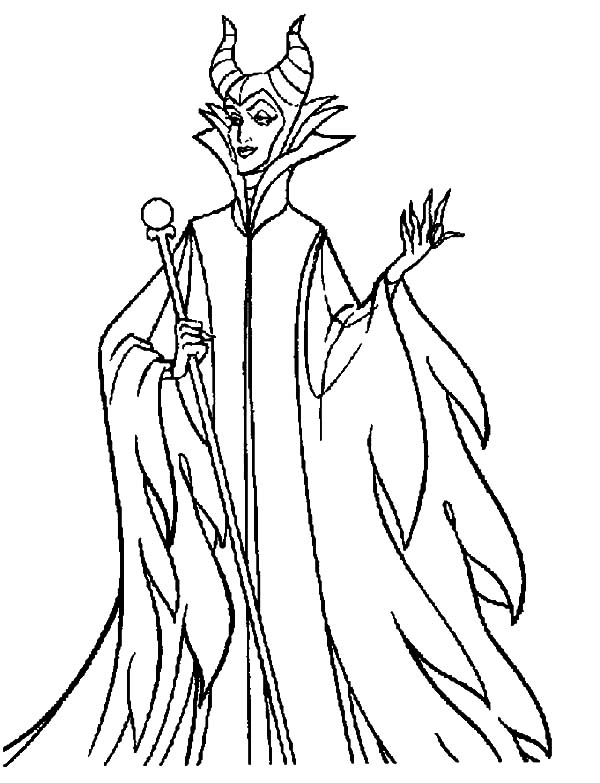 Maleficent, : Walt Disney Maleficent Coloring Pages
