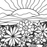 Garden, Watching Sunrise In My Garden Coloring Pages: Watching Sunrise in My Garden Coloring Pages