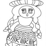 Mexican Dress, Wearing Mexican Dress At School Coloring Pages: Wearing Mexican Dress at School Coloring Pages