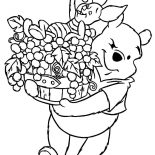 Grapes, Winnie The Pooh Carrying Grapes And Piglet Coloring Pages: Winnie the Pooh Carrying Grapes and Piglet Coloring Pages
