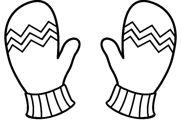 Mittens, : Winter Clothes Mittens Coloring Pages