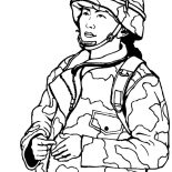 Military, Woman Military Soldier Coloring Pages: Woman Military Soldier Coloring Pages