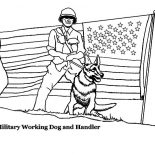 Military, Working Dog And Handler In Military Coloring Pages: Working Dog and Handler in Military Coloring Pages
