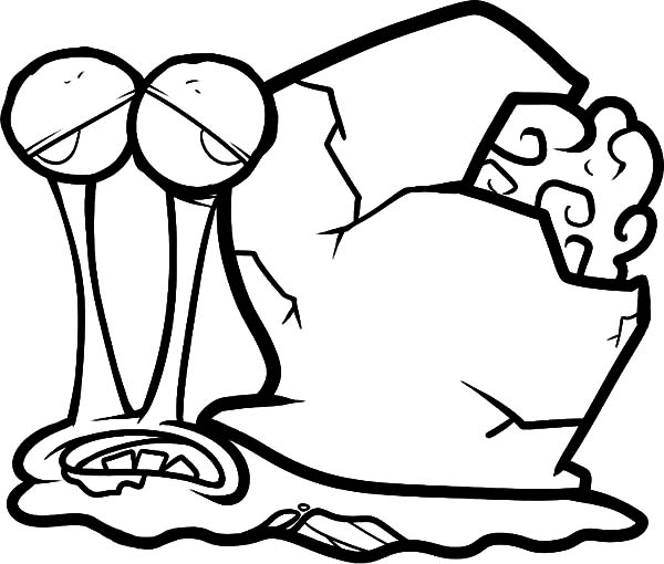 Zombie Gary The Snail Coloring Pages