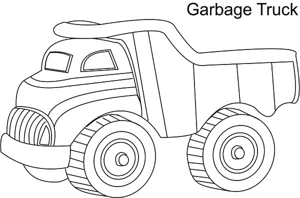 Uncategorized, : Garbage-Truck-Coloring-Pages