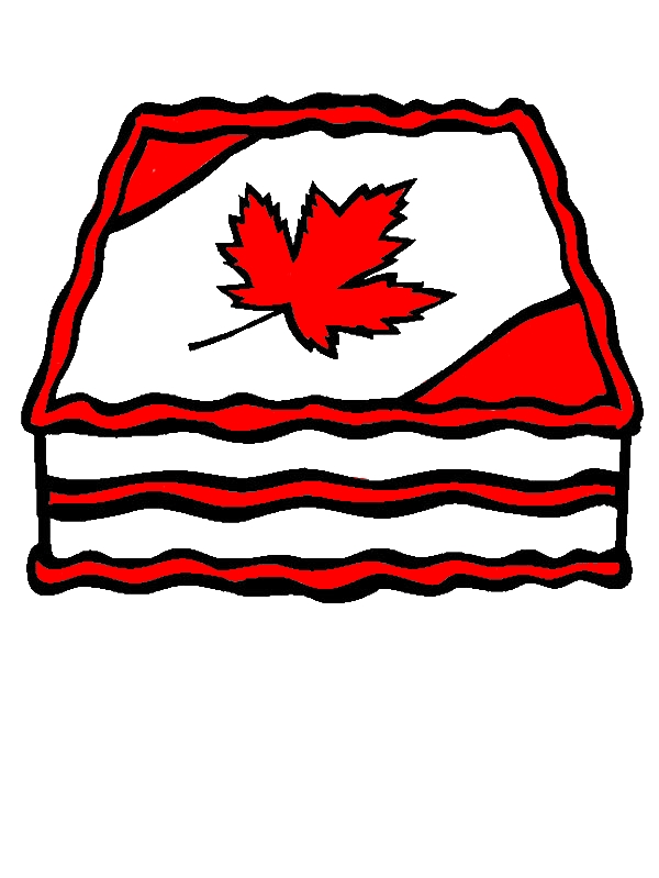 Canada Day 2015 Cake Decoration Coloring Pages by years old Marie C  Jackson
