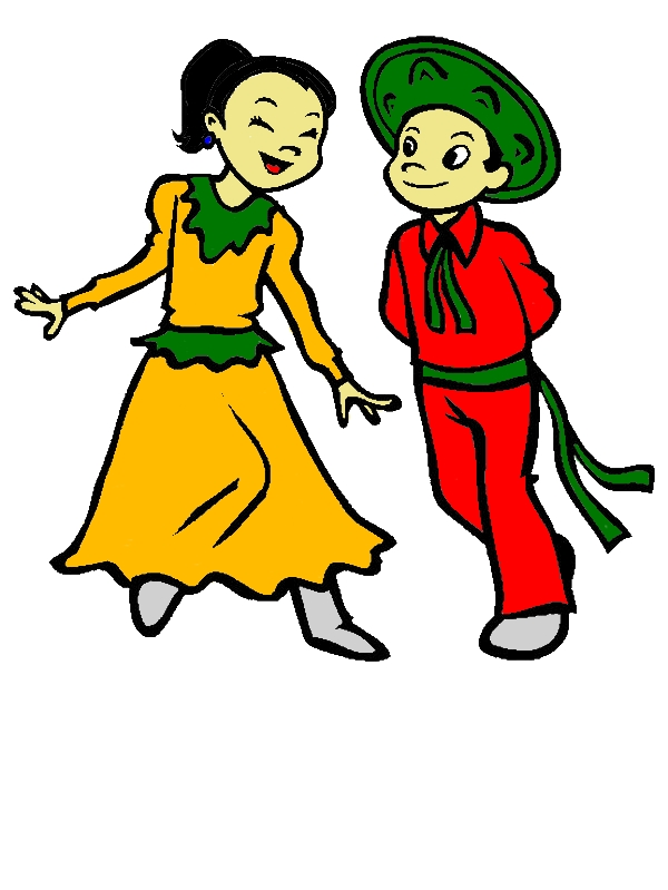 Couple Dancing In Mexican Dress Coloring Pages by years old Michael T  Lee