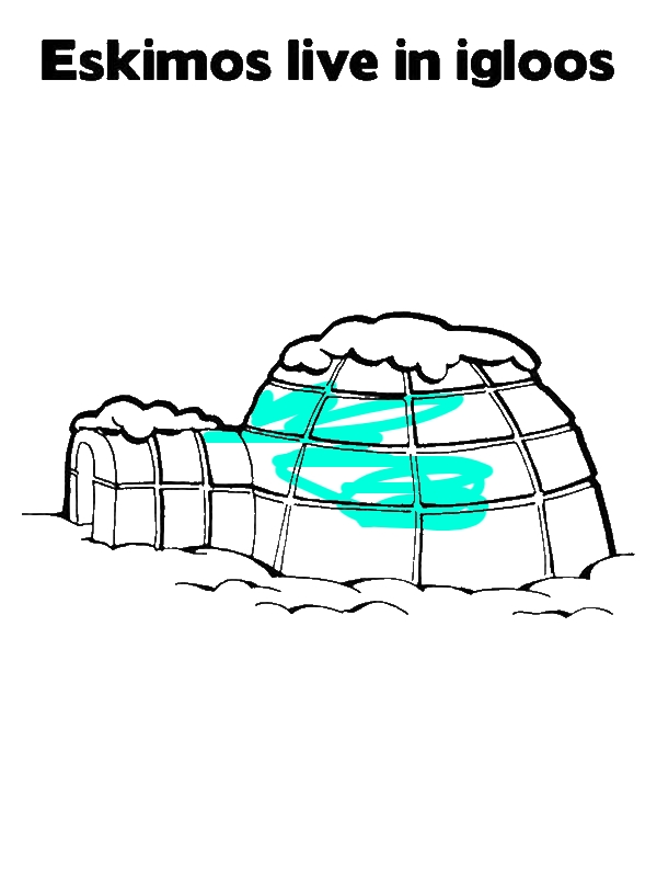 Eskimo Live In Igloo Coloring Page by years old Purplenoob13