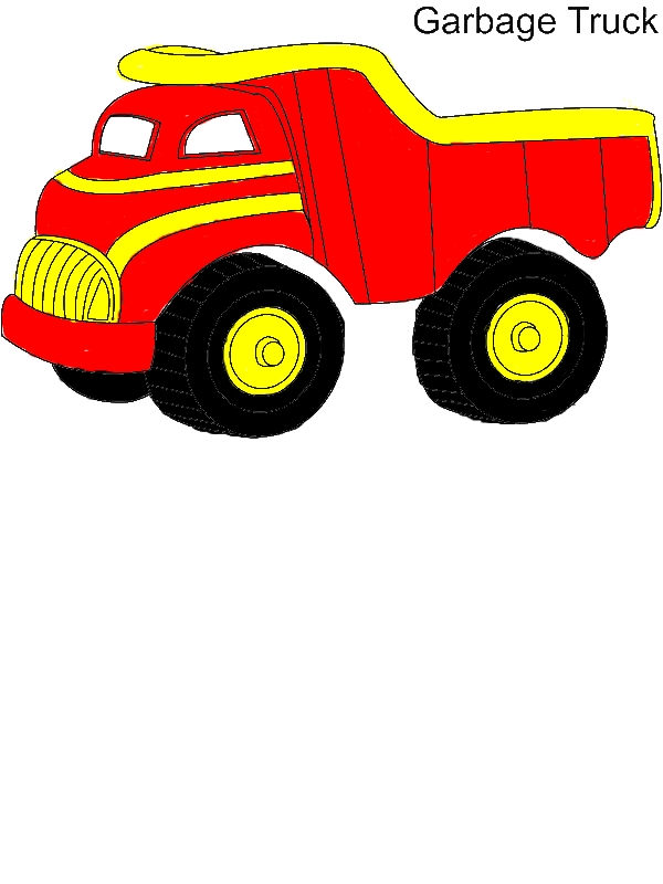 Garbage Truck Coloring Pages by years old Irene G  Alfaro