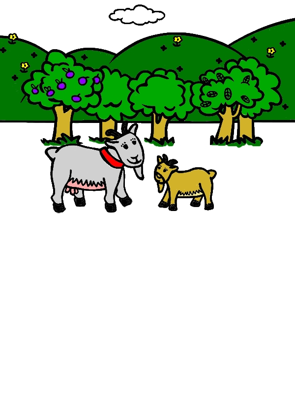 Goat Tale Coloring Pages by years old Lorene R  Davis