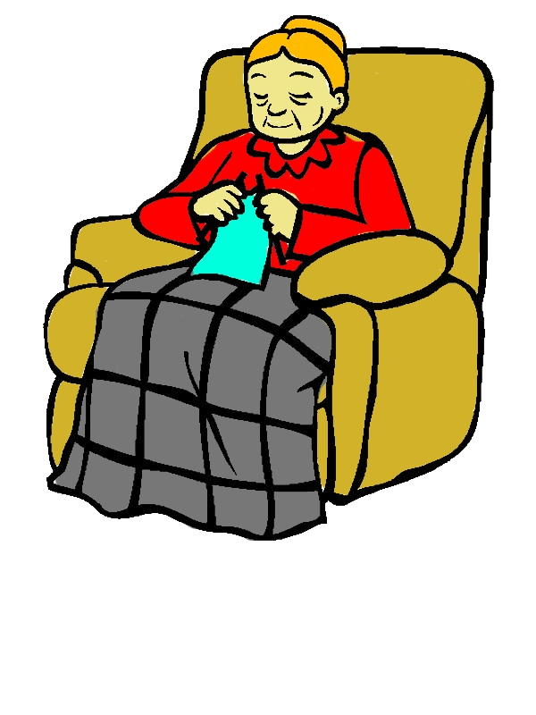 Grandmother Sitting On Her Lazy Chair Coloring Pages by years old Wayne P  Donoho