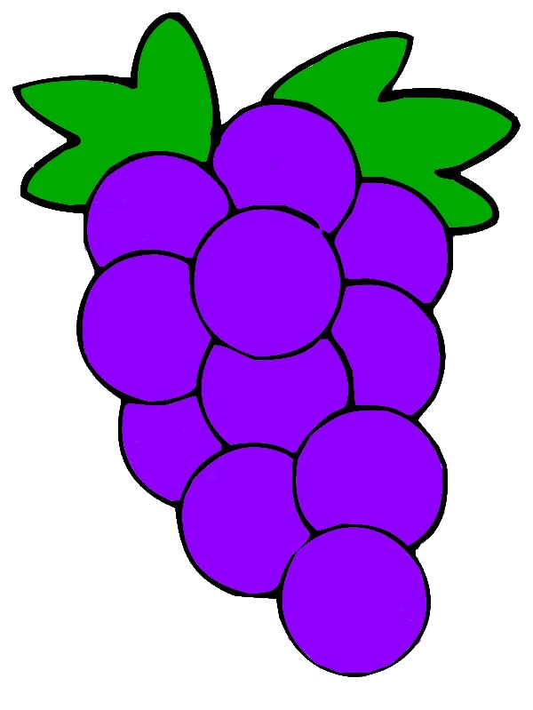 Grapes Mature Fruit Coloring Pages by years old Irene M  Gochenour