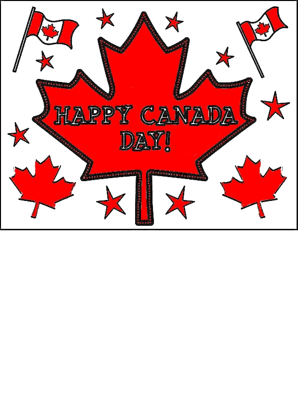 Joyful Celebration On Canada Day 2015 Coloring Pages by years old Dawn J  Lawson