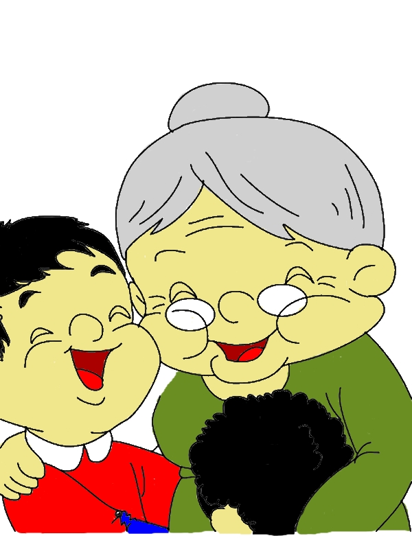 Laugh With My Grandmother Coloring Pages by years old Misty B  Simmons