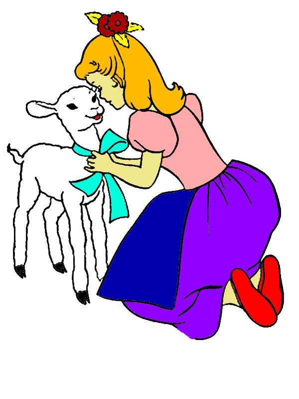 Mary Had A Little Lamb And She Talking To Her Coloring Pages by years old Michelle M  Taylor