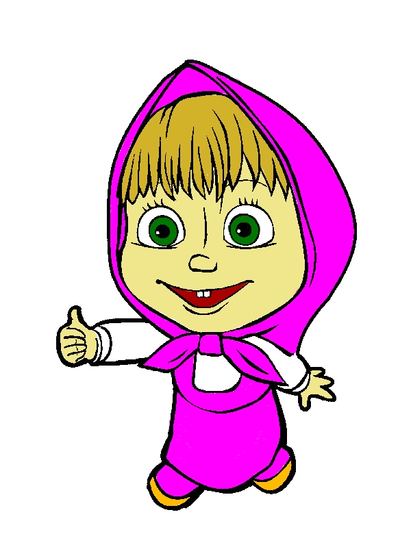 Masha And The Bear Is Agree With Bear Coloring Pages by years old John A  Martinez