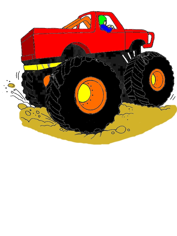 Monster Jam Competition Coloring Pages by years old Thomas E  Berry