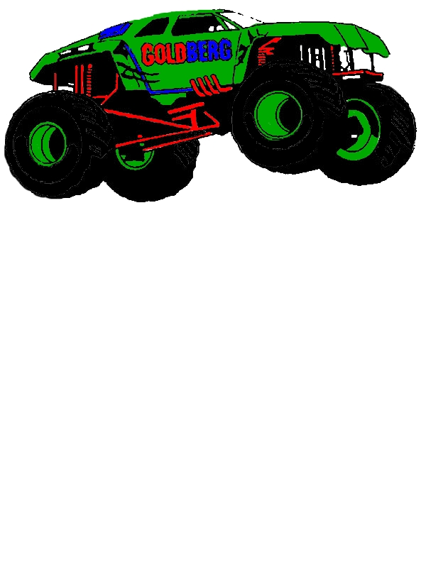 Monster Jam Goldberg Monster Truck Coloring Pages by years old Howard M  McGowan