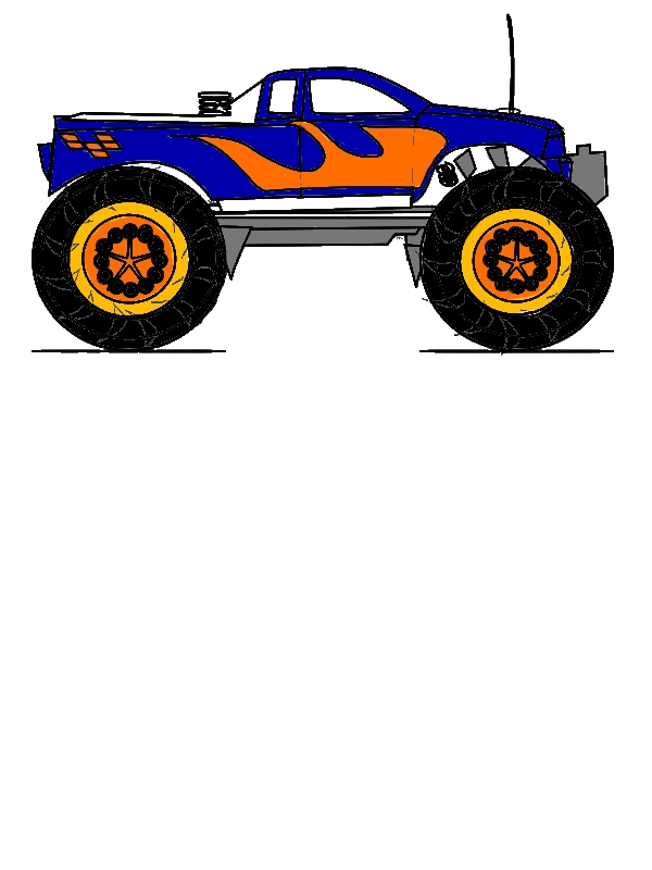 Monster Jam Truck Sketch Coloring Pages by years old Ruth D  Jensen