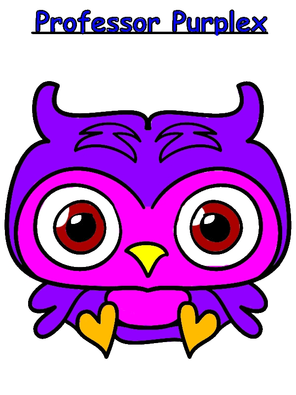 Moshi Monster Professor Purplex Coloring Pages by years old Phyllis B  Sandoval