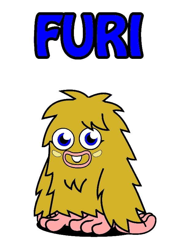 One Tooth Furi Moshi Monster Coloring Pages by years old Tonya T  McKee
