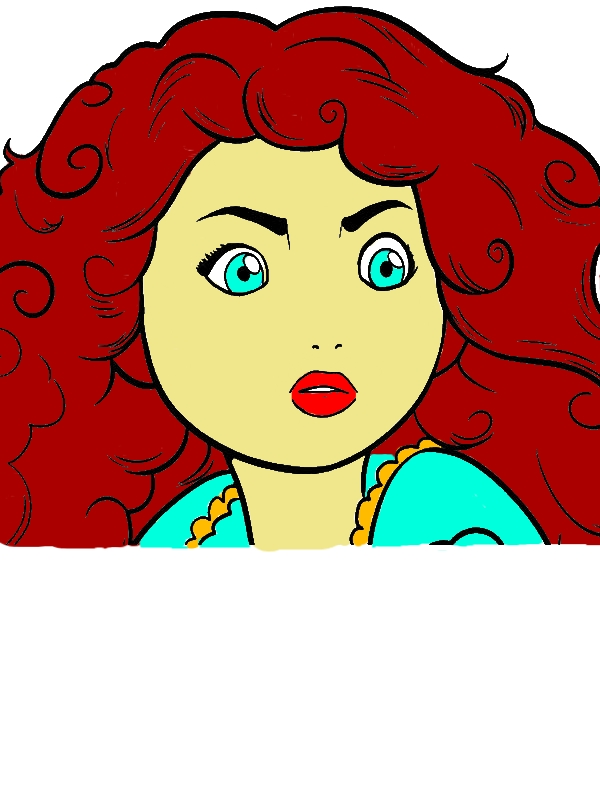 Picture Of Princess Merida Coloring Pages by years old Sherri R  Rodriguez