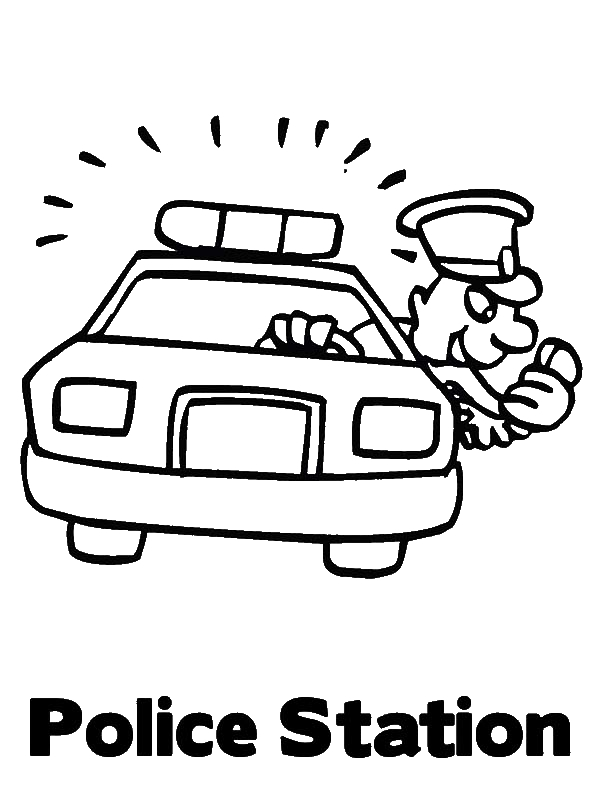 Police Car Station Coloring Page by years old sdfgsdfg