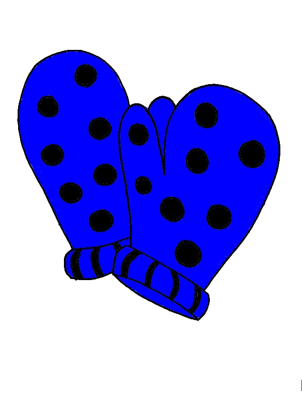Polkadot Mittens Coloring Pages by years old Lenore J  Quintana