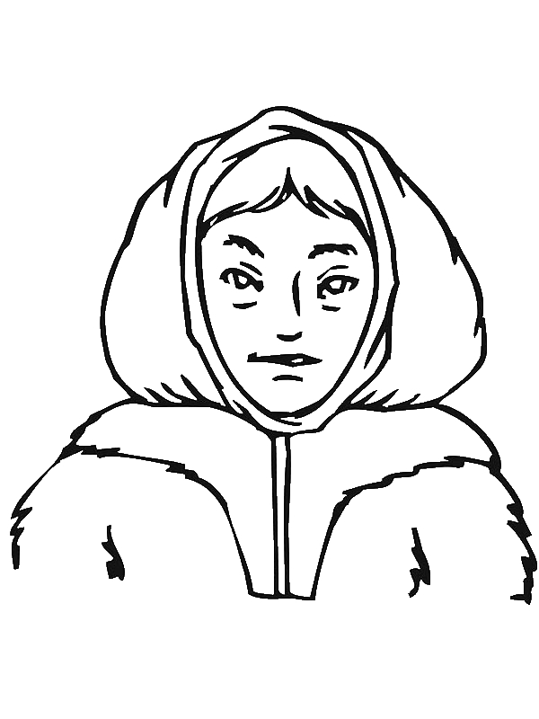 Potrait Of An Eskimo Coloring Page by years old Mitoboy30