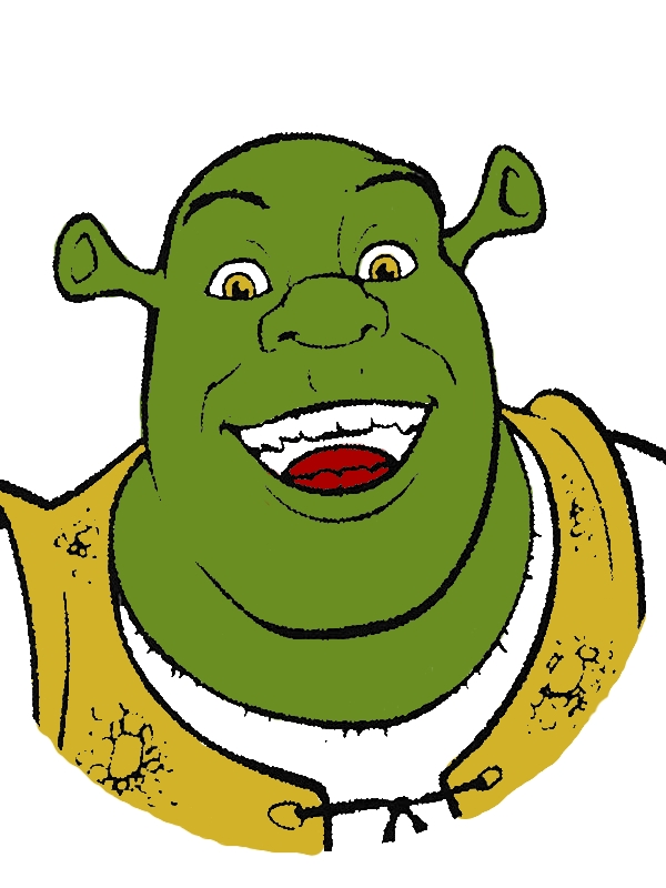 Shrek Is Smiling Coloring Page by years old Willie K  Boyd