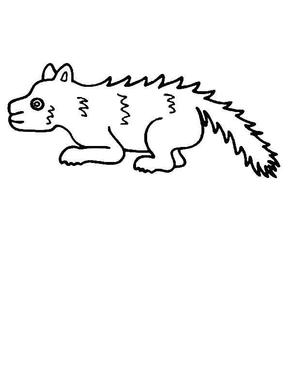Skunk Is Sick Coloring Page by years old dfgaedfgadf