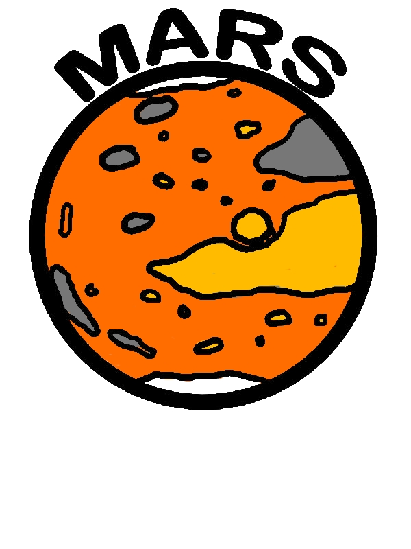 Space Object Planet Mars Coloring Pages by years old Alma J  Knight