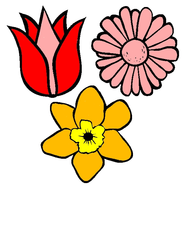 Spring Flower Coloring Page For Kids by years old Maria J  Barr