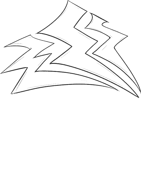 Storm Lighting Bolt Coloring Page by years old dfsdfgs