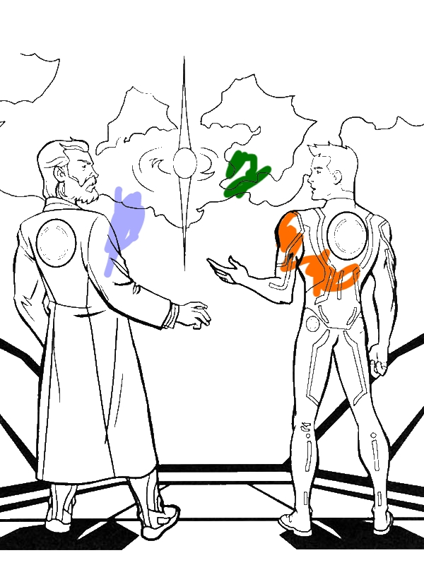 Tron Legacy Kevin And Sam Flynn Coloring Pages by years old Jacqueline