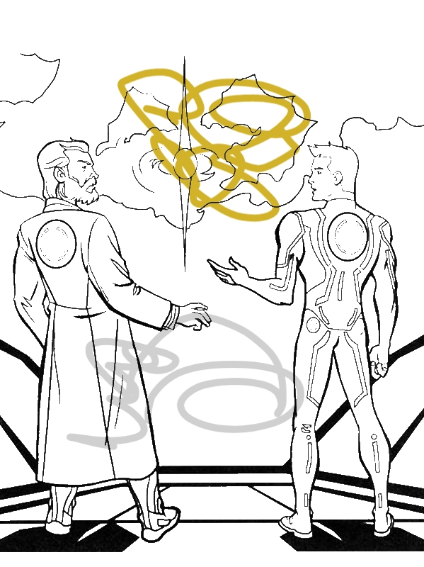 Tron Legacy Kevin And Sam Flynn Coloring Pages by years old ertet