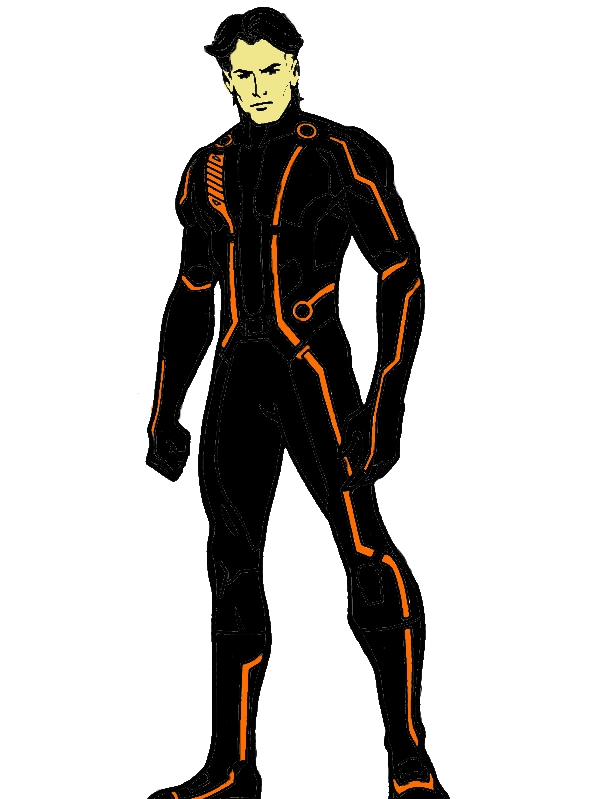Tron Legacy Kevin Flynn Coloring Pages by years old Juan H  Miles